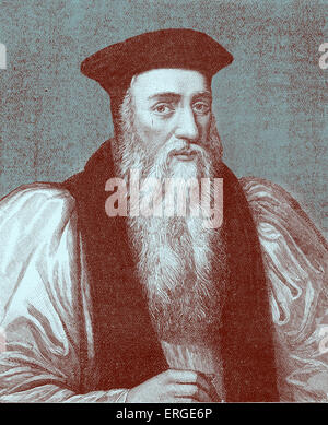 Archbishop Thomas Cranmer. Protestant reformer and Archbishop of Canterbury during the reigns of Henry VIII, Edward - Stock Photo