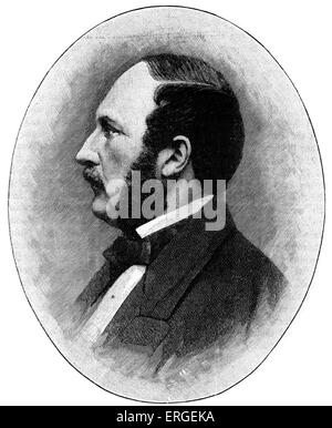 Prince Albert of Saxe-Coburg and Gotha - portrait. Engraving after photograph by Mayall and Co, Limited. German - Stock Photo