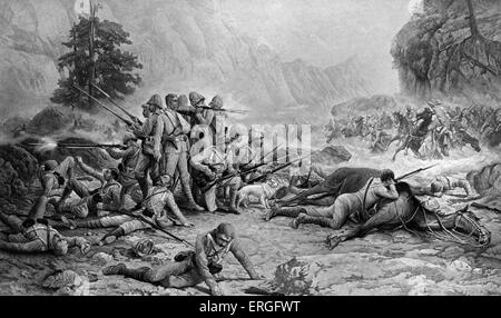 'The Last Eleven at Maiwand' - after painting by Frank Feller.  Battle of Maiwand, Afrghanistan, 27  July  1880. - Stock Photo