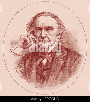 Sir William Ewart Gladstone (1809-1898). British statesman and prime minister. - Stock Photo