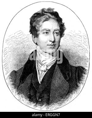 Robert Peel (Bury, 1788-London, 1850). British Conservative statesman who served as Prime Minister of the United - Stock Photo