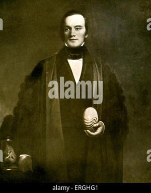 Sir Richard Owen. English professor,  biologist, comparative anatomist and paleontologist. 20 July 1804 – 18 December - Stock Photo