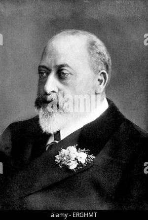 Edward VII.  King of the United Kingdom of Great Britain and Ireland and of the British Dominions and Emperor of - Stock Photo
