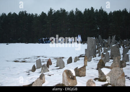 Treblinka,  Poland. Memorial.  Site of Nazi extermination camp active from July 1942 to August 1943 when 870,000 - Stock Photo