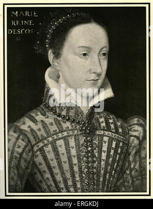 Mary, Queen of Scots (1542-1587), painted in 1500-1. Mary, a catholic and rival cousin to Elizabeth's protestant - Stock Photo