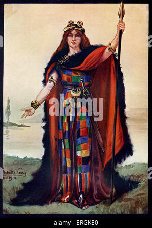 Boadicea / Boudica / Boudicca Queen of the British Iceni tribe who led   uprising against the occupying forces of - Stock Photo