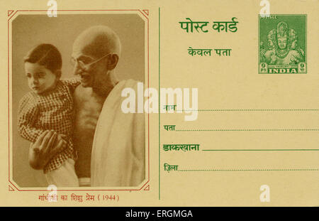 Mahatma Mohandas Karamchand Gandhi, Hindu nationalist and spiritual leader, 1944. Mahatma Mohandas Karamchand Gandhi: 2 October