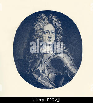 Charles Mordaunt, 3rd Earl of Peterborough (1658-1735) was an English nobleman and military leader. - Stock Photo