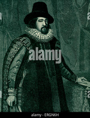 Francis Bacon (1561-1626) was an English statesman, Attorney General, Lord Chancellor and author. Portrait by Van - Stock Photo