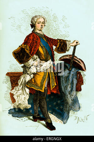 Louis XV  the Boy king, King of France from 1715 to 1774. 15 February 1710 – 10 May 1774 - Stock Photo