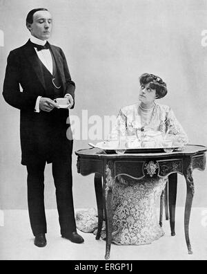 J M Barrie 'The Admirable Crichton', comedy written in 1902. Harry Brodribb Irving as Crichton and Dame Irene Vanbrugh - Stock Photo