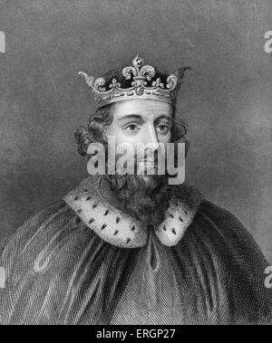 King Alfred The Great, portrait. King of Wessex from 871 to 899. 849 - October 899. - Stock Photo