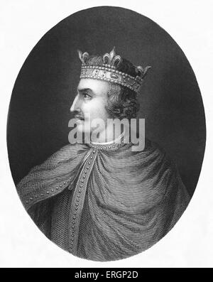 Henry I,  King of England from 1100 to 1135, portrait. 1068 – 1 December 1135. - Stock Photo