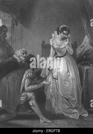 Lady Jane Grey declining the crown. Also known as the 'The Nine Days Queen', Lady Jane Grey  (1536-1554)  was declared - Stock Photo