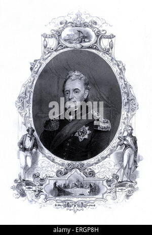 King William IV, portrait. King of the United Kingdom of Great Britain and Ireland and of Hanover from 26 June 1830 - Stock Photo