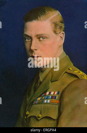 Edward VIII -  Prince of Wales, in military uniform, portrait.  King of the United Kingdom and the Dominions of - Stock Photo