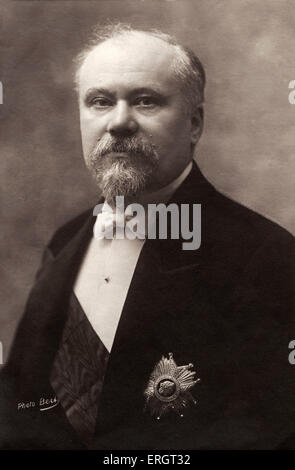 Raymond Poincaré - portrait.  President of the French Republic (1913-1920), closely associated with Entente Cordiale - Stock Photo