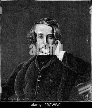 Edward Bulwer-Lytton (1st Baron Lytton): English novelist, poet, playwright, and politician, 25 May 1803 – 18 January - Stock Photo