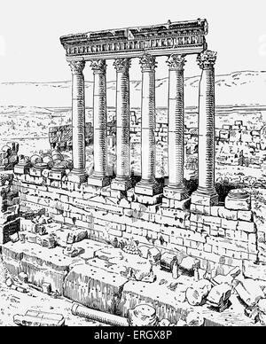 Zeus's temple. Corinthian columns temple of Zeus from ' A Study in Ancient Religion' by Arthur Bernard Cook, British - Stock Photo