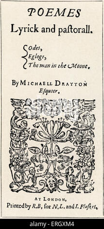 'Drayton's Poems' by Michael Drayton.  Title page. 1606. MD:  English poet, 1563 – 23 December 1631. - Stock Photo