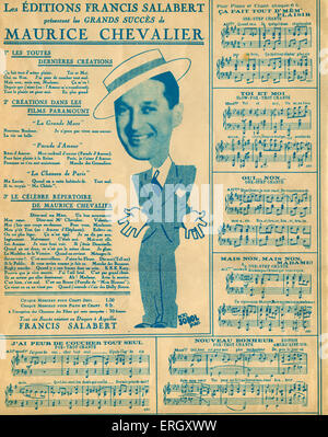maurice chevalier french singer and entertainer stock. Black Bedroom Furniture Sets. Home Design Ideas