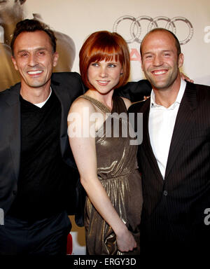 Robert Knepper, Natalya Rudakova and Jason Statham at the World Premiere of 'Transporter 3' held at the Planet Hollywood - Stock Photo