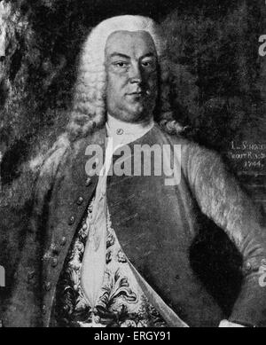 Johann Christoph Gottsched. After painting by Schorer, 1744. German author and critic: 2 February 1700 – 12 December - Stock Photo