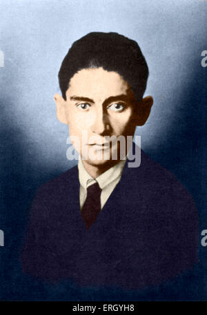 Franz Kafka - portrait of Czech writer. 3 July 1883 - 3 June 1924. (Brod as Kafka's executor after his death issued - Stock Photo