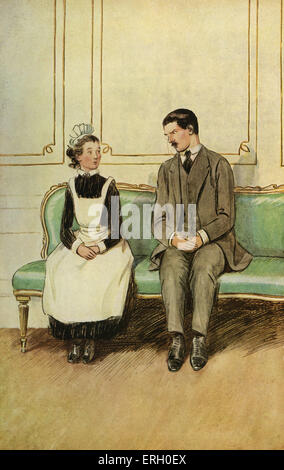 J M Barrie 'The Admirable Crichton' comedy written in 1902. Act I (At Loam House, Mayfair) : Lord Brocklehurst (Desperately - Stock Photo