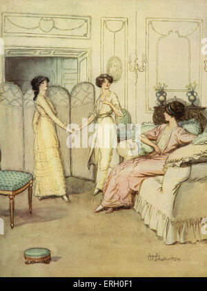 J M Barrie 'The Admirable Crichton' comedy written in 1902. Act I (At Loam House, Mayfair) : Catherine: 'Mary, you - Stock Photo