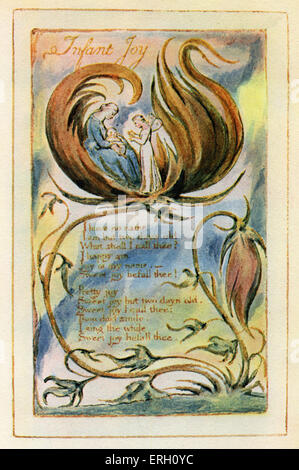Songs of Innocence by William Blake English poet, painter and printmaker: 28 November 1757 — 12 August 1827. - Stock Photo