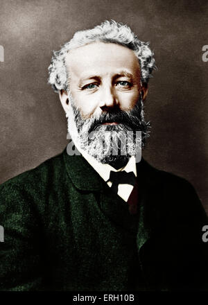 Jules Verne. Portrait of the French writer. Author of 'Eighty days around the world', 'Journey to the centre of - Stock Photo