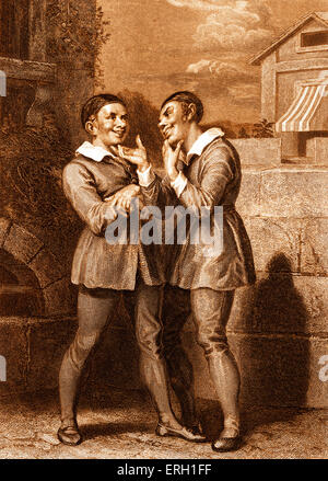 an analysis of shakespearean comedy in the play the comedy of errors by william shakespeare William shakespeare's  these enthusiasts were drunk and there were many errors  a staple of the shakespearean comedy is ending the play with.