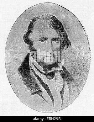 George Cruikshank. Illustrator of Charles Dickens novels (Oliver Twist, Sketches by Boz).   1792 - 1878 - Stock Photo