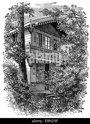 Charles Dickens '  house at Gad's Hill,  UK.Home where the British novelist died. 7 February 1812 - 9 June 1870. - Stock Photo