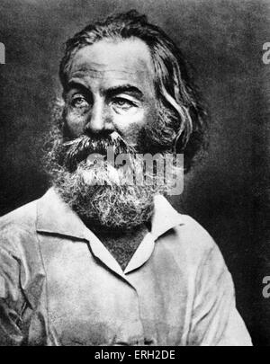 Walt Whitman  portrait - American poet  and humanist 31 May 1819 - 26 March 1892 Stock Photo