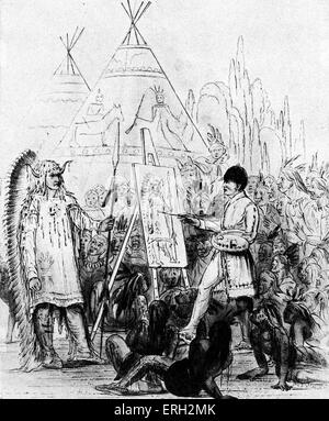 George Catlin, American writer and painter. 26 July 1796 – 23  December 1872. - Stock Photo