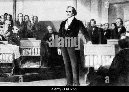 Daniel Webster, American politician. 18 January 1782 -  24 October 1852. - Stock Photo