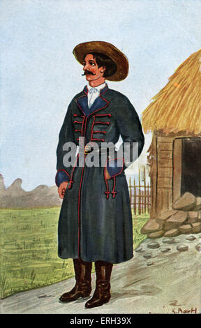 Traditional man's Polish costume 19 century. - Stock Photo