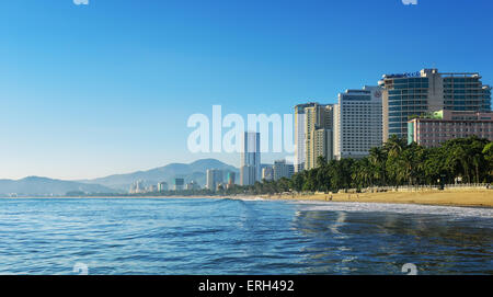 Nha Trang. Vietnam. November24, 2014. Coastline of famous resort city. - Stock Photo