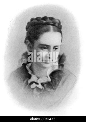 Mark Twain 's wife, Mrs. Samuel L. Clemens (Olivia Clemens), 1873. Mark Twain (pen name for Samuel Langhorne Clemens - Stock Photo