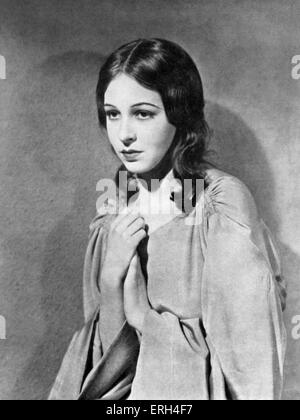 Pamela Ostrer as Naemi from 'Jew Süss, Scenario of the film' based on the book by Lion Feuchtwanger, directed by - Stock Photo