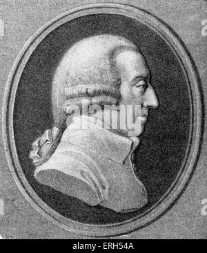 Adam Smith, 16 June 1723 – 17 July 1790. Scottish moral philosopher and a pioneer of political economics. Author - Stock Photo