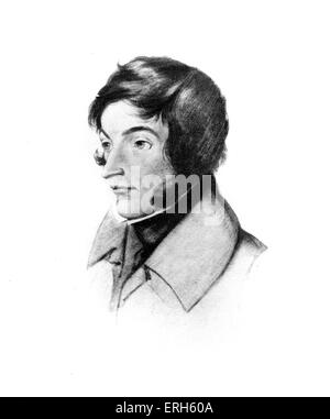 Adam Bernard Mickiewicz - portrait.  Polish patriot,  poet and essayist, 1798-1855.  Friend of Chopin. - Stock Photo