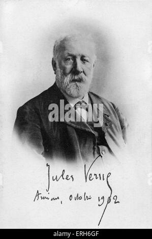 Jules Verne - portrait. Amiens, France, October 1902.  French writer 1828-1905.  Author of ' Around the world in - Stock Photo