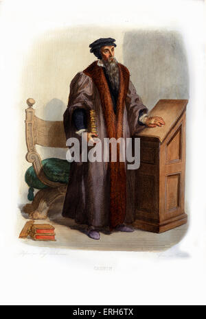 John Calvin (French: Jean Calvin). Influential French theologian and pastor during the Protestant Reformation and - Stock Photo