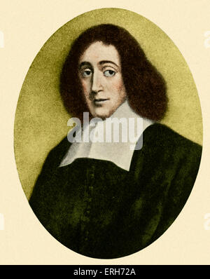 Benedict (Baruch) Spinoza,  portrait. Dutch philosopher 1632-1677 - Stock Photo