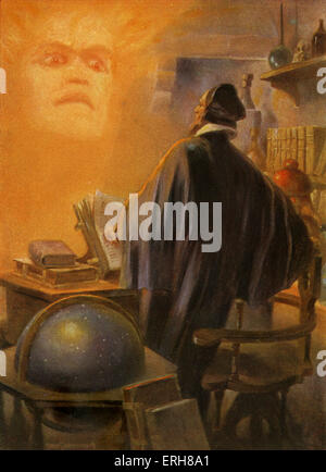 Faust by Johann Wolfgang von Goethe. German writer and philosopher: 28 August 1749 – 22 March 1832. Illustration - Stock Photo