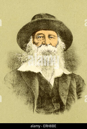 WHITMAN, Walt American Poet, 1819-1892 Stock Photo