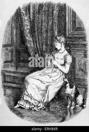 Old Christmas by Washington Irving. Julia at the Christmas Eve gathering. Caption: 'Indeed, so great was her indifference, - Stock Photo